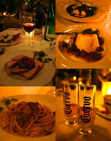 dinner taormina